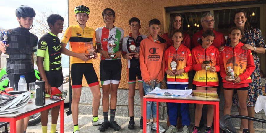 Premios a los participantes más jóvenes de la XXXI edición de la tradicional Cronoescalada a la Cruz Verde