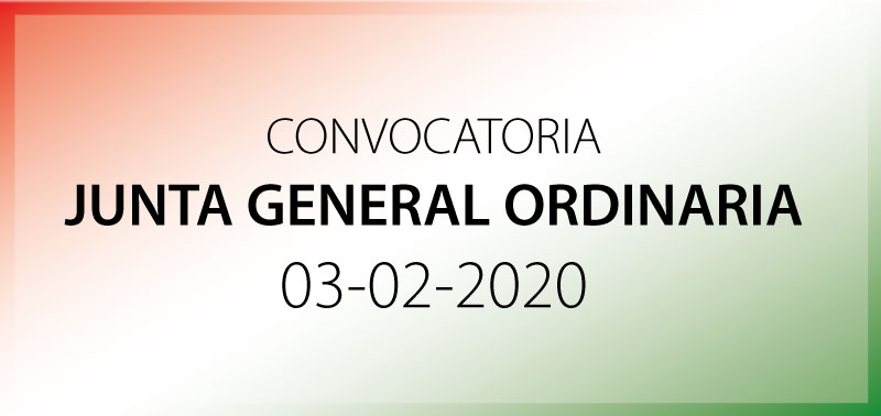 Convocatoria de Junta General del 3-2-2020