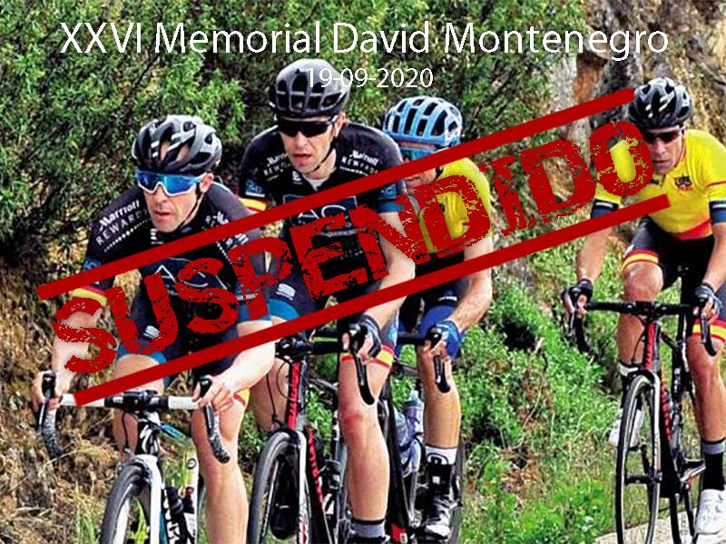 Suspendida la XXVI Edición del Memorial David Montenegro