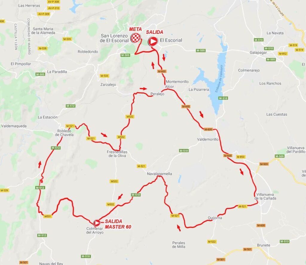 Mapa del recorrido del Memorial David Montenegro